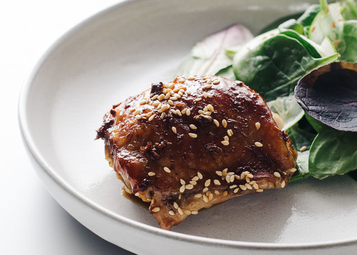 Easy Oven-Baked Sesame Chicken Thighs